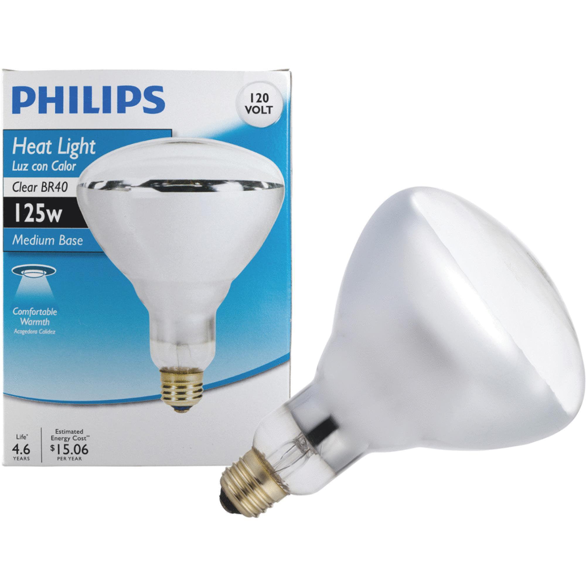 Philips BR40 Incandescent Heat Light Bulb - Walmart.com