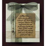 "Plaque-Bangles & Bows-May Blessings (Easel Backed) (7"" x 8"")"