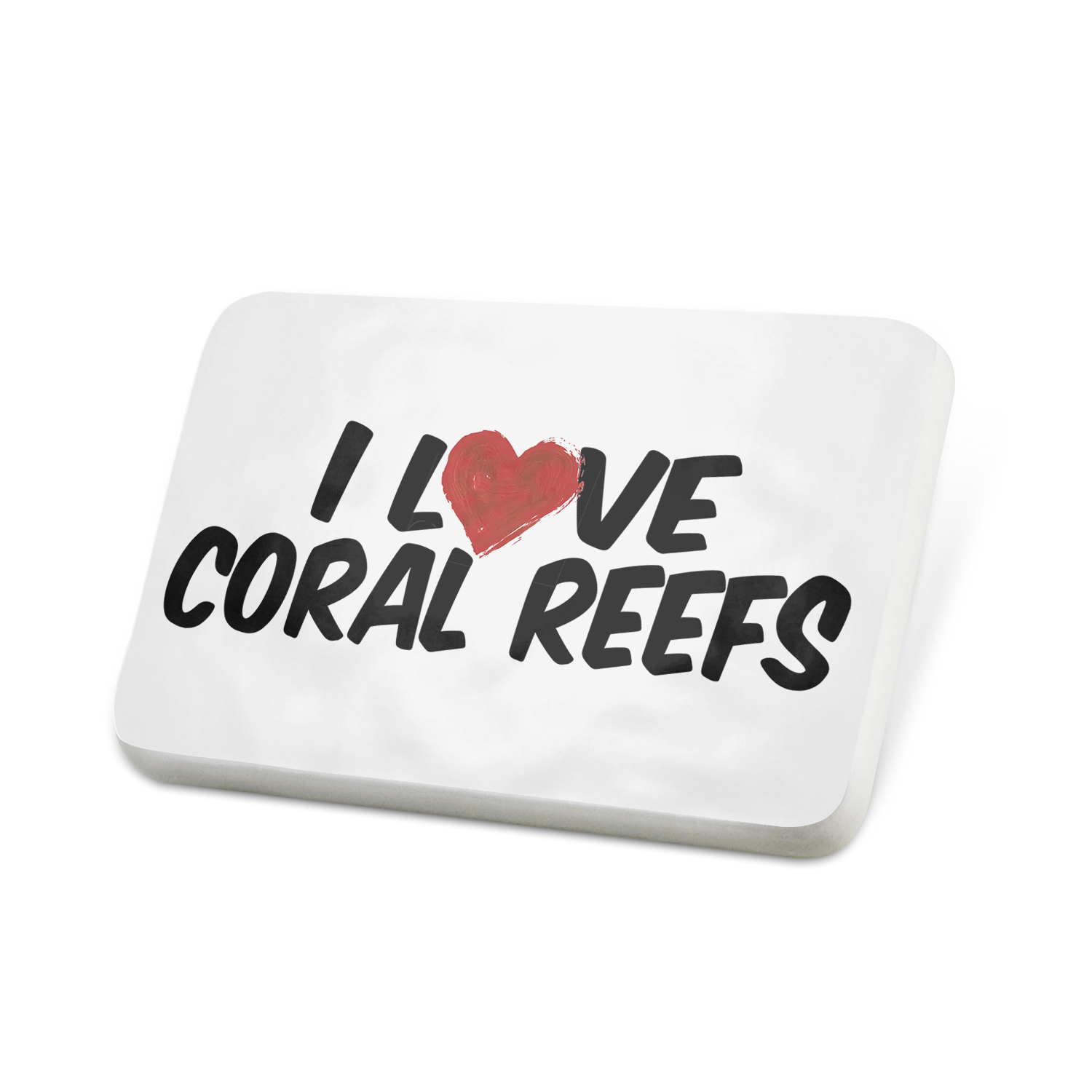 Porcelein Pin I Love Coral Reefs Lapel Badge � NEONBLOND by NEONBLOND