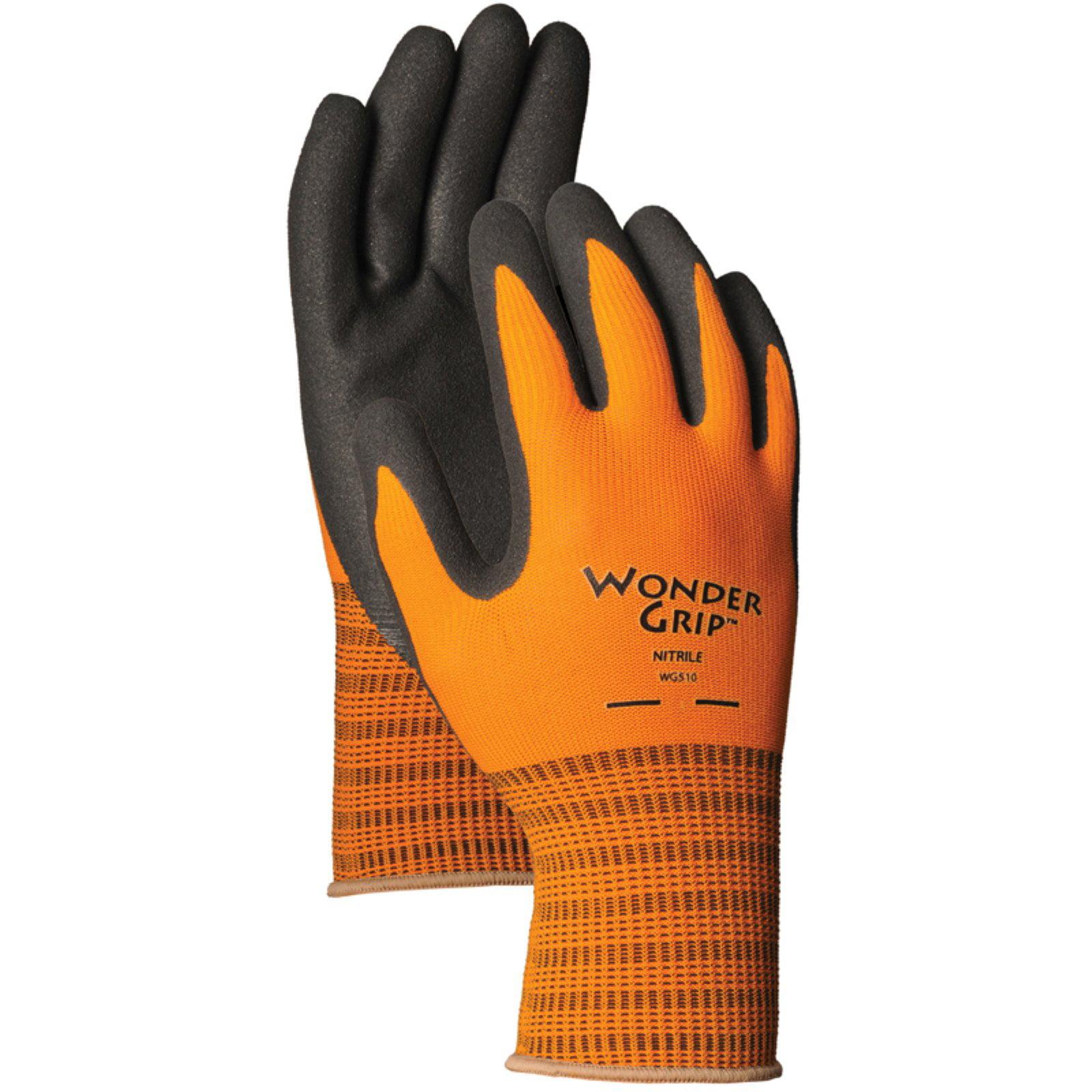 LFS Medium Sienna Wonder Grip Nitrile Palm Gloves