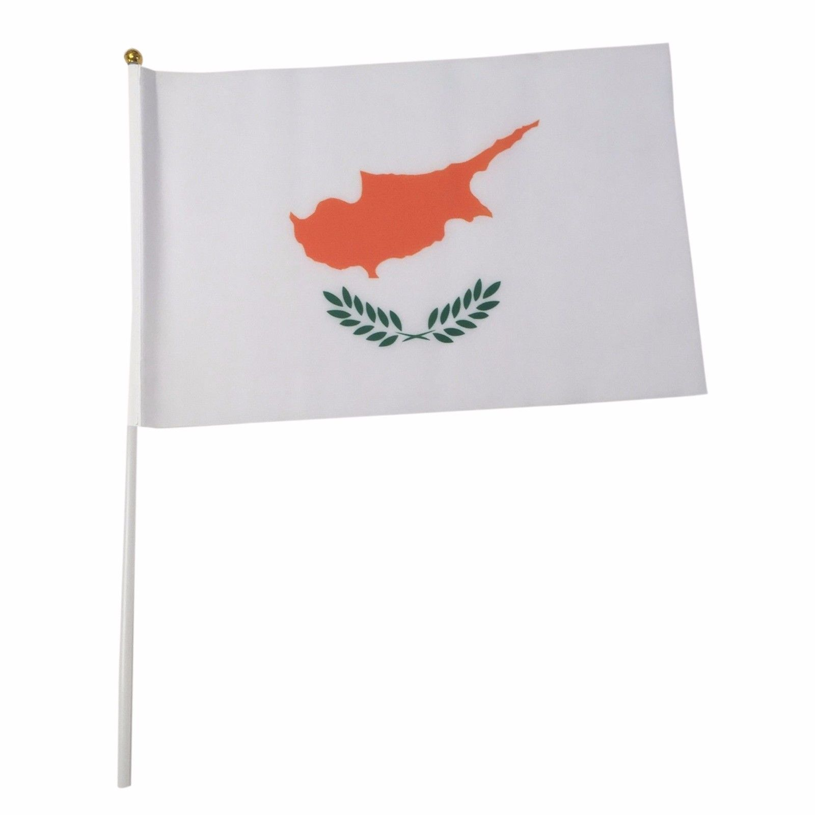 Cyprus 12-Pack 4x6 Inch Hand Waving Desk Flags