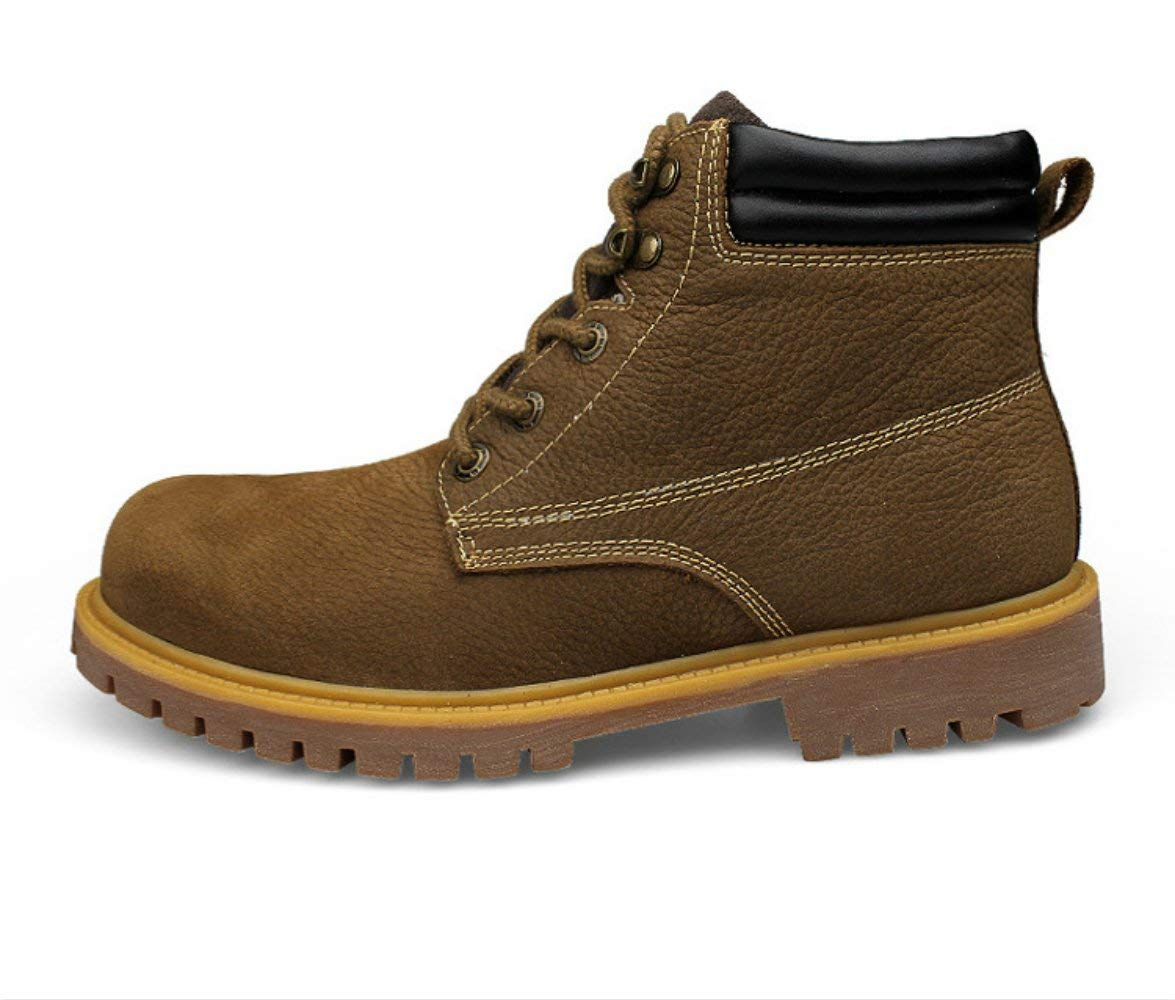Pro Space Men's Insulated Work Boots Rubber Sole Water Resistant Non-Slip Industrial Construction Boots Martin Boots,8B(M)