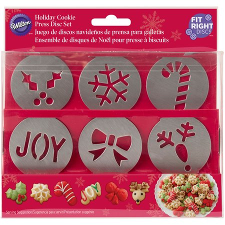 Holiday Cookie Press Disc Set 6Pkg Christmas Walmartcom