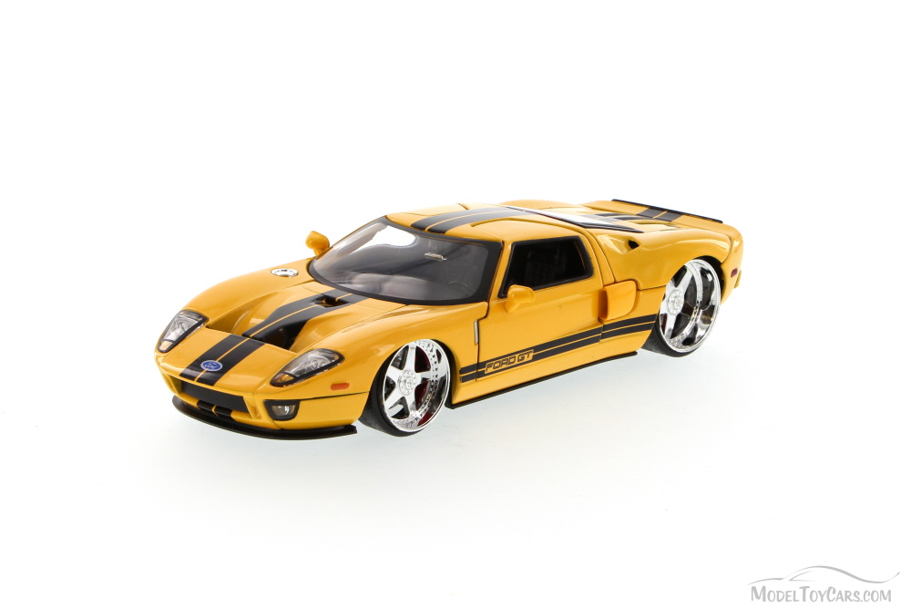 Ford Gt Yellow Jada Toys Bigtime Kustoms  Scalecast Model Toy Car Brand New But Not In Box Walmart Com