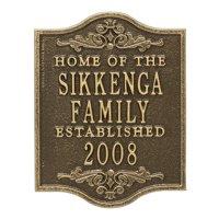 Personalized Buena Vista Anniversary Wedding Plaque in Antique Brass