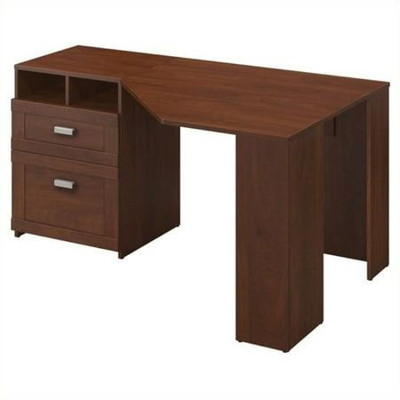 Bowery Hill Reversible Corner Desk in Hansen (Hansen Cherry Corner Desk)