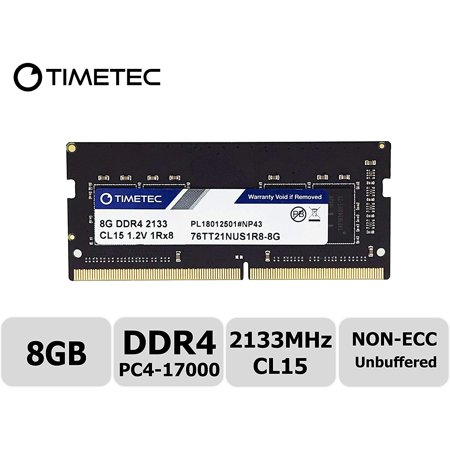 Timetec Hynix IC 8GB DDR4 2133MHz PC4-17000 Unbuffered Non-ECC 1.2V CL15 1Rx8 Single Rank 260 Pin SODIMM Laptop Notebook Computer Memory RAM Module Upgrade (8GB)