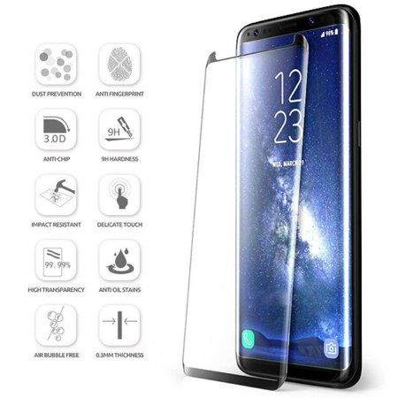 Samsung Galaxy Note 8 Full Cover (Blue) 3D Tempered Glass Screen Protector Full Blue Notes
