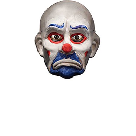 Batman Dark Knight Deluxe Joker Clown Mask Adult Halloween Accessory (The Dark Knight Rises Bane Halloween Mask)