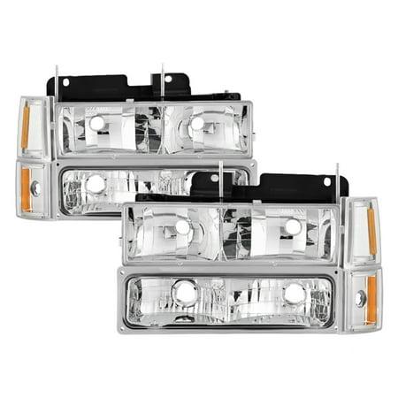 - VIPMOTOZ For 1994-1998 GMC C/K Pickup Truck Suburban Yukon Headlights