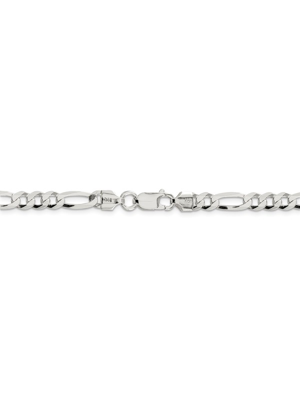 Mia Diamonds 925 Sterling Silver Rhodium Plated Octagonal Snake Chain 0.9mm