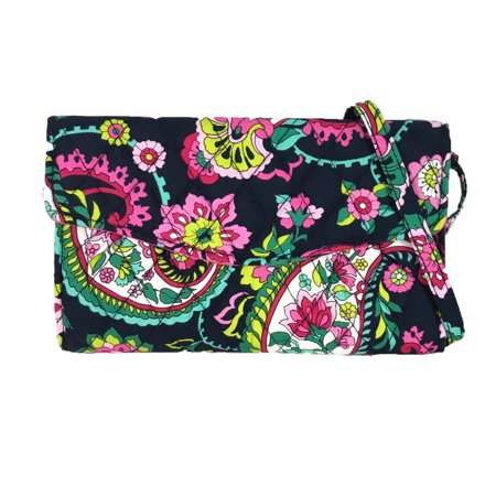 Vera Bradley Strap Wallet Crossbody Bag  Petal Paisley