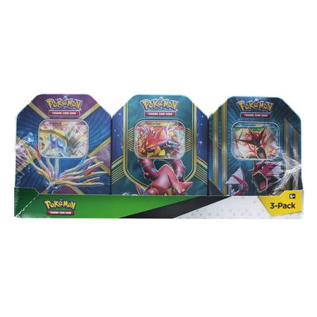 Pokemon Trading Card Tin 3-Pack - Volcanion/ Shiny Gyarados/ Xerneas (Buy Pokemon Cards)