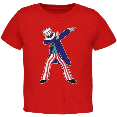 4th Of July Dabbing Uncle Sam Toddler T - Fourth Of July Emoji