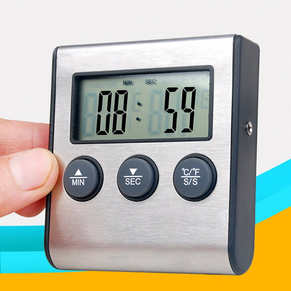 Digital Remote Wireless Food Kitchen Oven Thermometer Probe Timer For BBQ by