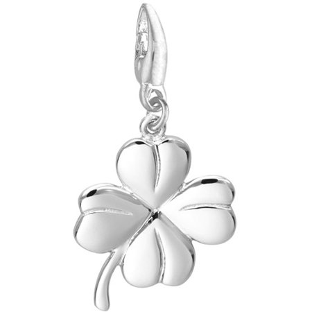 Women's Sterling Silver 4-Leaf Clover Clip-On Charm