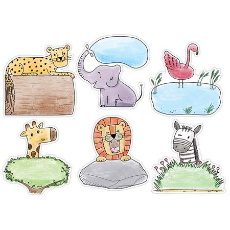 10IN SAFARI FRIENDS DESIGNER CUTOUT (Safari Cutouts)
