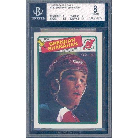 1988 89 O Pee Chee  122 Brendan Shanahan Rookie Bgs 8