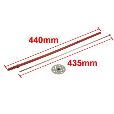 5pcs 10mmx440mm Gypse PP rouge Anchor gris fer Plaque fixation clou galvanisé - image 3 de 4