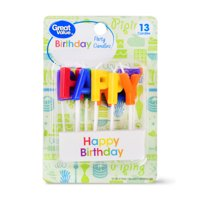 Great Value Celebration Candles, Happy Birthday, 13 Count