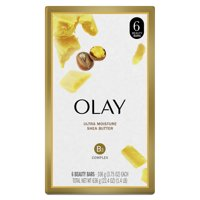 Olay Moisture Outlast Ultra Moisture Shea Butter Beauty Bar with Vitamin B3 Complex 3.75 oz, 6 count