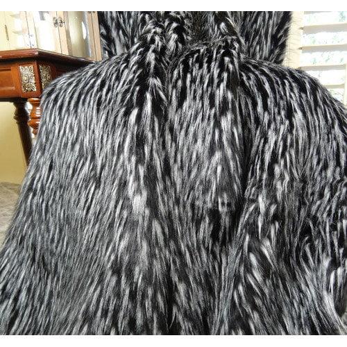 Plutus Brands Wolf Fur Handmade Throw