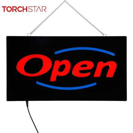 TORCHSTAR 8W Neon LED Open Bar Led Business Light Sign, Red & Blue