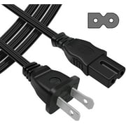 6 ft 6 feet 2Prong Polarized Power Cord for Vizio LED TV Smart HDTV AC Wall Cable