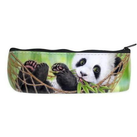 POPCreation Panda In The Swing School Pencil Case Pencil Bag Zipper Organizer Bag