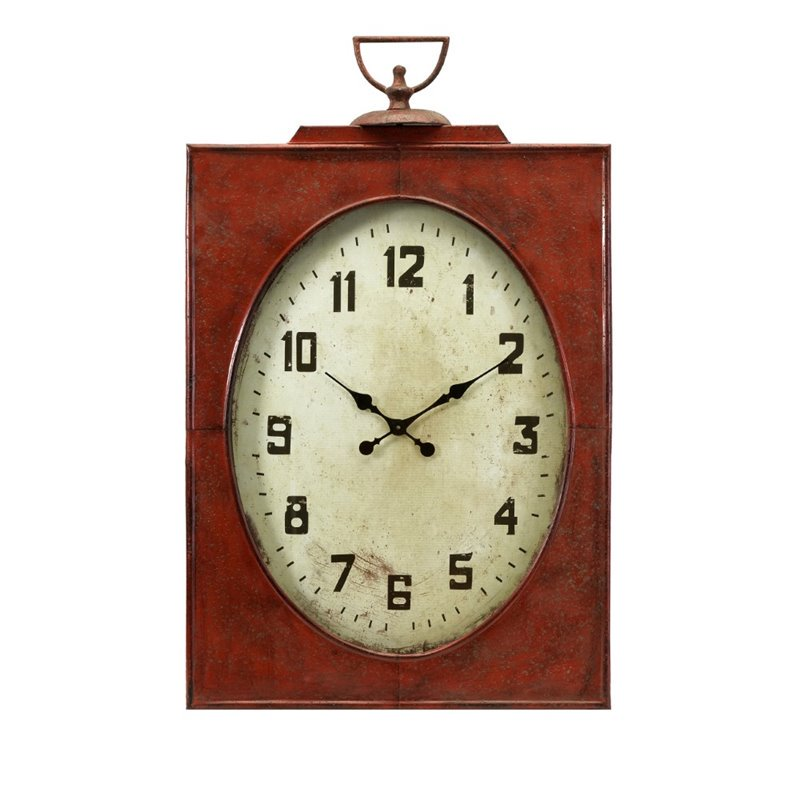 appealing carnen oversized red wall clock