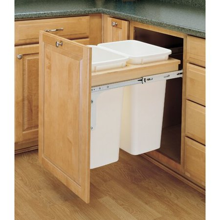Rev-A-Shelf Double Top Mount 12.5 Gallon Pull Out/Under Counter Pull Out/Under Counter Trash -