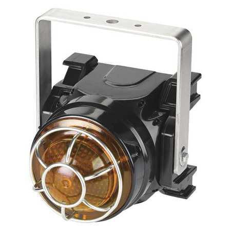 Beacon Warning Light,Amber,LED,Brckt Mnt FEDERAL SIGNAL G-LED-AC-T-A