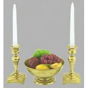 Dollhouse Fruit Bowl W/Candlesticks