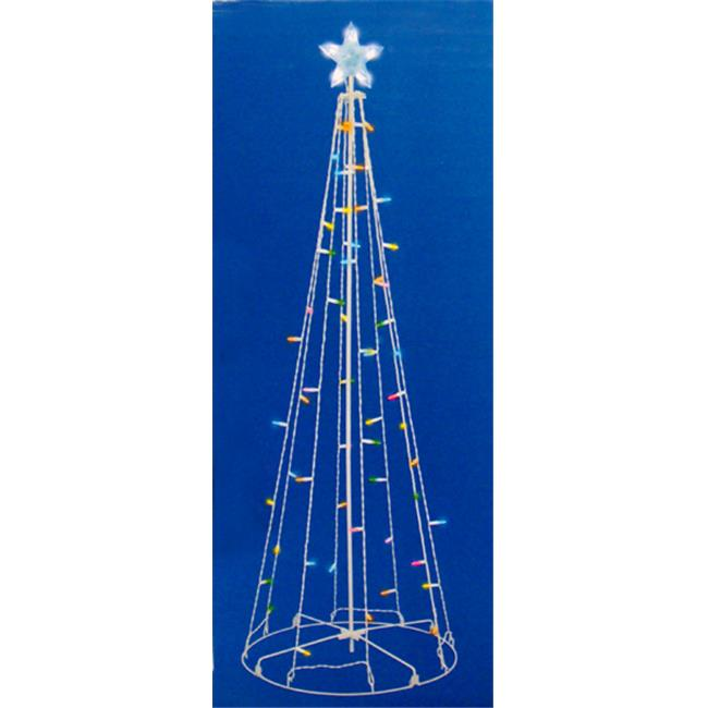 NorthLight 5 ft.  Multi-Color LED Lighted Multi-Function Outdoor Christmas Tree Yard Art Decoration