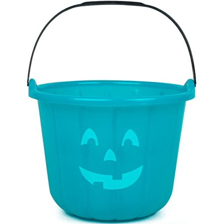 Teal Pumpkin Halloween Trick or Treat Bucket 8.5 in - Official Teal Pumpkin Project Allergy-Friendly Candy Accessory - All Sales Supports F.A.R.E.
