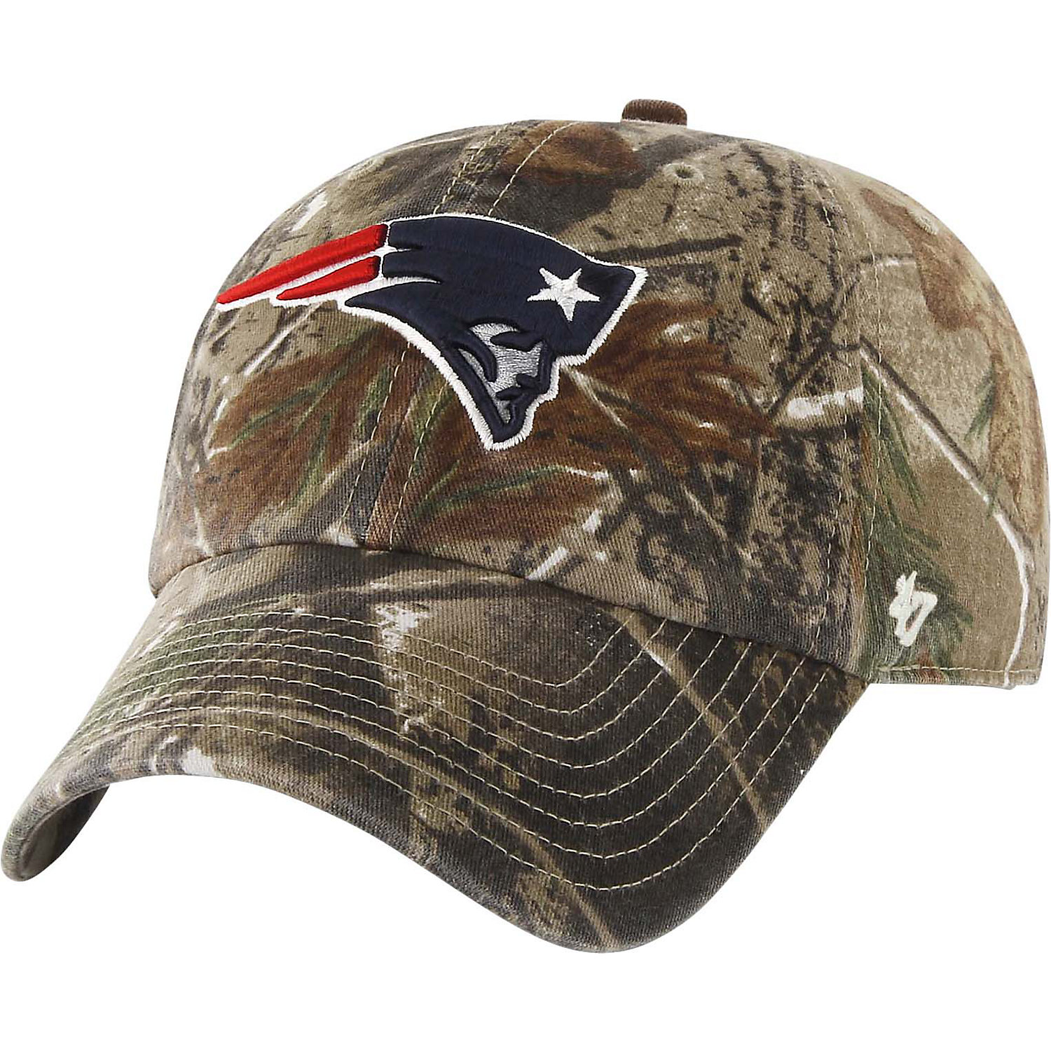 '47 Brand New England Patriots NFL Realtree Camo Clean Up Cap