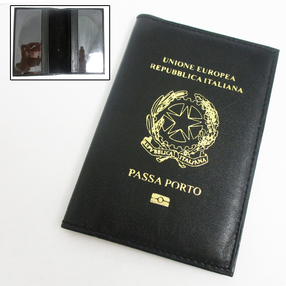 Marshal Italian Italy Genuine Leather Passport Cover Holder Protector Europe Union New