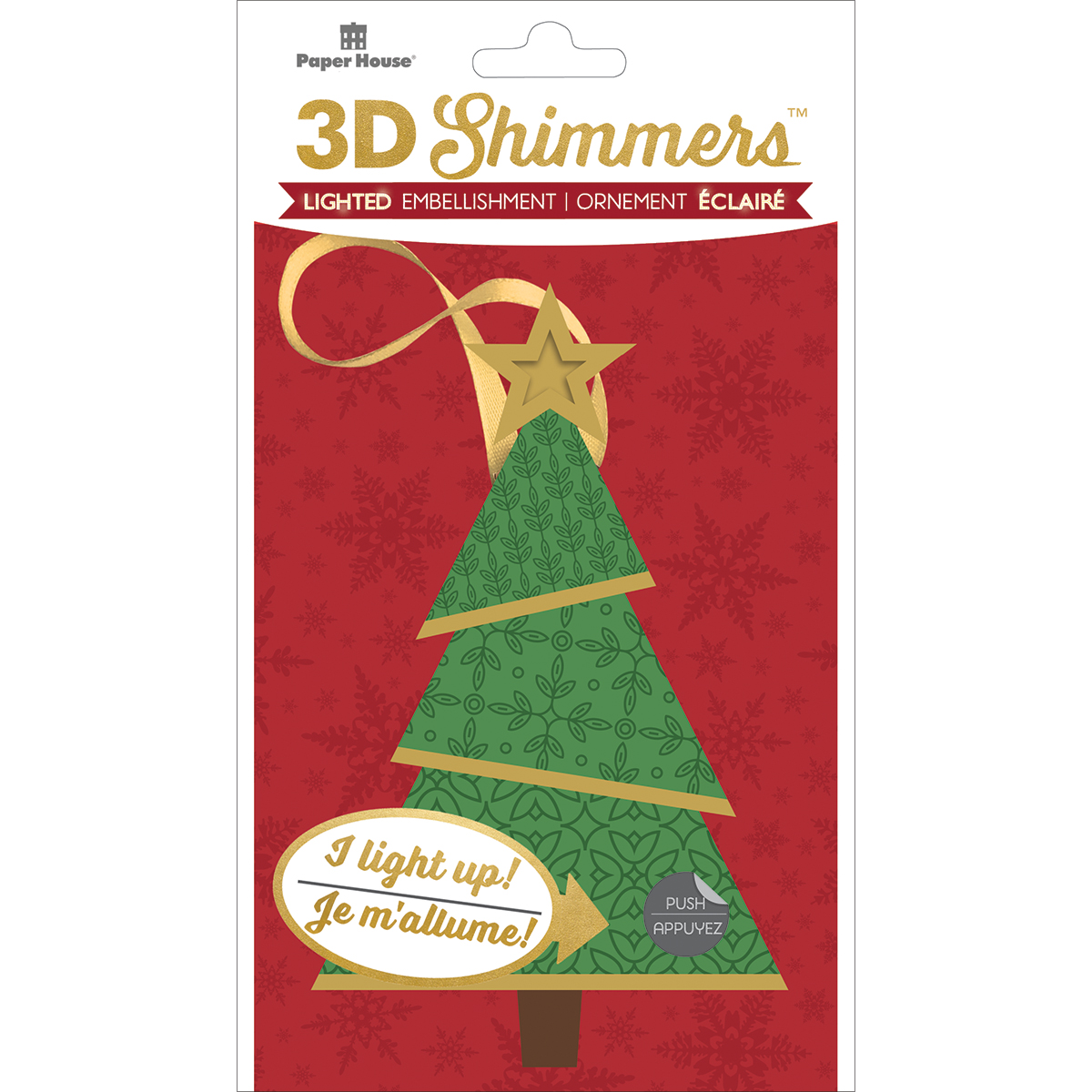Paper House Led Shimmers Embellishment-Modern Christmas Tree