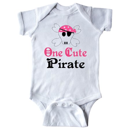 Pirate Funny Infant Bodysuit - Girls Cute Pirate Infant Creeper