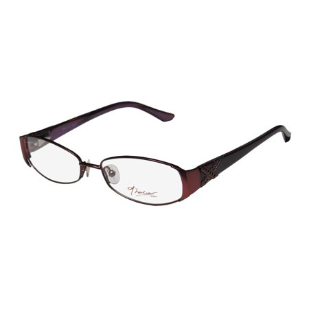 New Thalia Agata Womens/Ladies Designer Full-Rim Merlot / Plum Collectible Contemporary Optical Frame Demo Lenses 52-15-135 Spring Hinges Eyeglasses/Eyeglass Frame