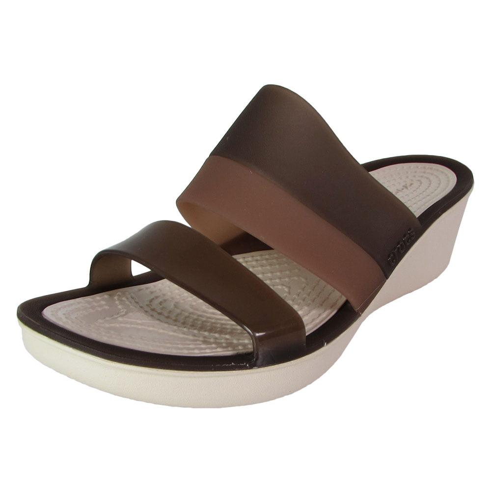 43a2df524 Buy Crocs Womens Colorblock Wedge Sandal Shoes