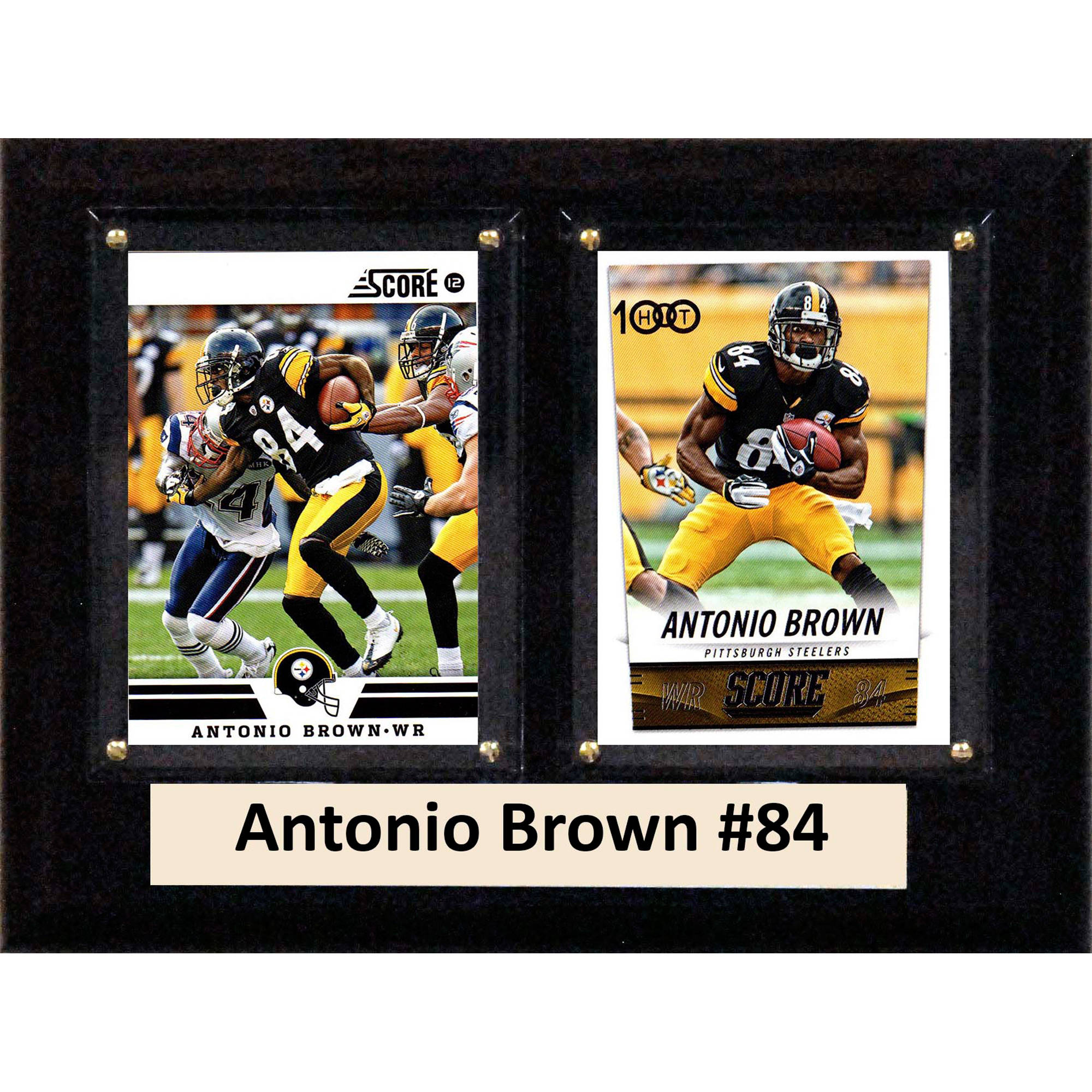 C&I Collectables NFL 6x8 Antonio Brown Pittsburgh Steelers 2-Card Plaque