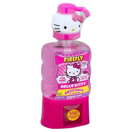 Firefly Hello Kitty Anticavity Fluoride Rinse Melon Kiss Flavor, 16.0 FL OZ - Fire Flys