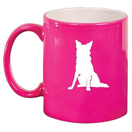 Ceramic Coffee Tea Mug Cup Border Collie (Pink)