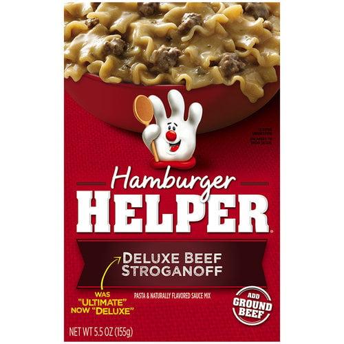 Betty Crocker? Deluxe Beef Stroganoff Hamburger Helper? 5.5 oz. Box