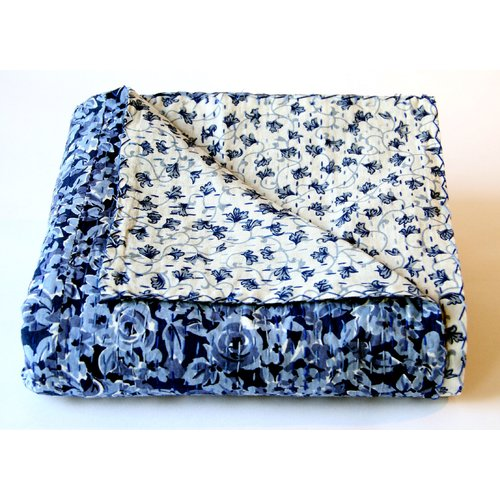 Melange Home Pacific Twilight Cotton Kantha Reversible Throw