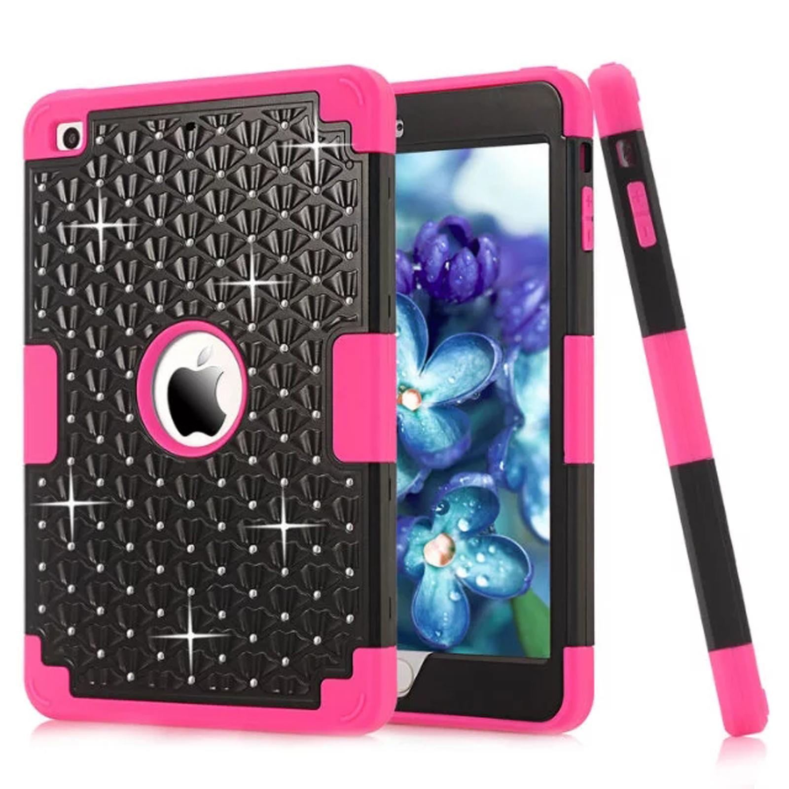 Dteck Shockproof Case For Apple iPad mini/mini 2/mini 3 Bling Diamond Rubber Cover, GIFT For Kids Black