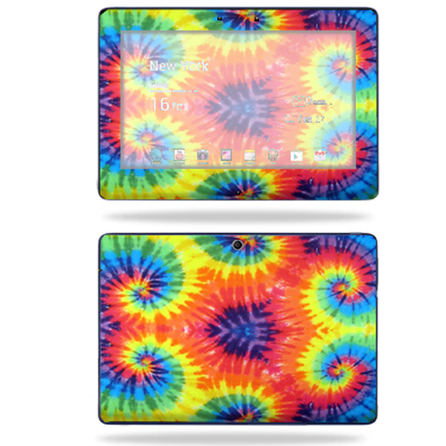 Mightyskins Protective Skin Decal Cover for Asus Transformer TF300 10.1 inch screen tablet stickers skins Tie Dye 2