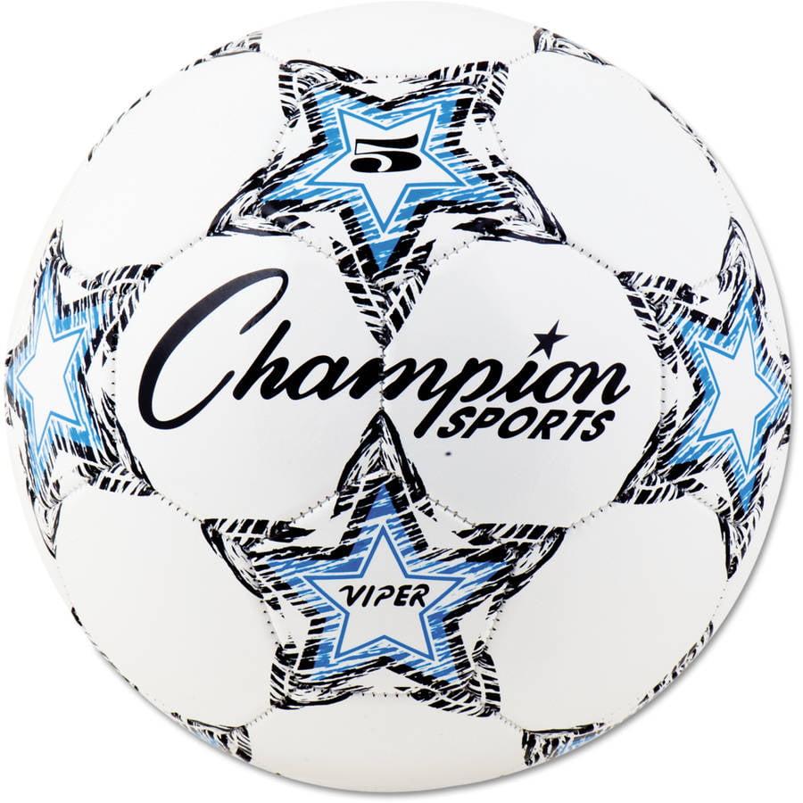 Champion Sports VIPER Soccer Ball, Size 5, White