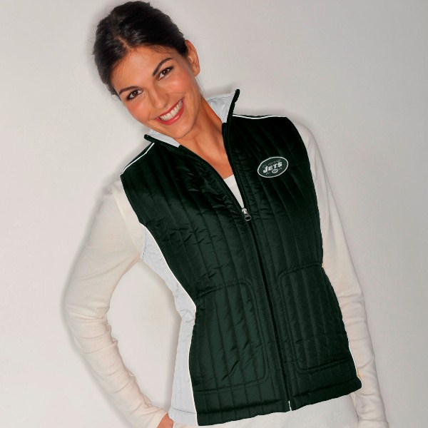 New York Jets Women's NFL Rally Full Zip Quilted Vest Jacket by G-III Sports